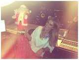 Delta Goodrem got into the Christmas spirit in the recording studio. Source: Twitter user delta_goodrem
