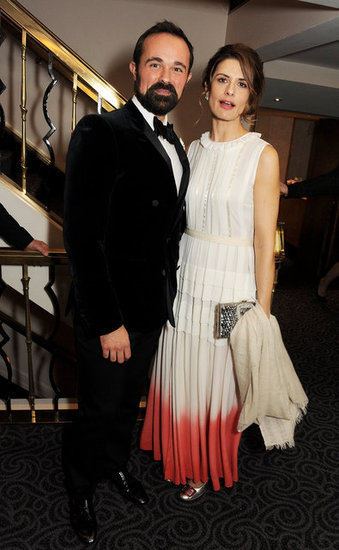 Evgeny Lebedev and Livia Firth