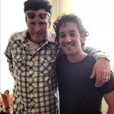 Thomas Ian Nicholas hung out on the set of The Lost Tree with costar Michael Madsen. Source: Instagram user tinband