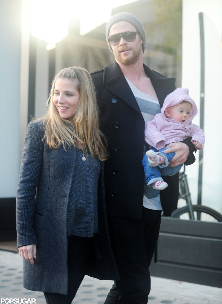 Elsa Pataky and Chris Hemsworth took India for a walk in London.