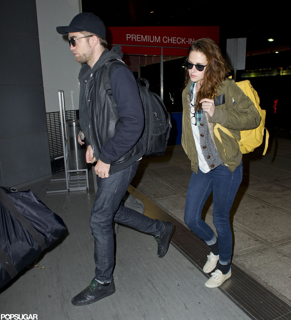 Kristen Stewart and Robert Pattinson headed out of JFK.