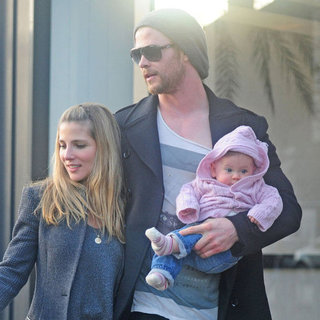 Chris Hemsworth With Baby India and Elsa Pataky