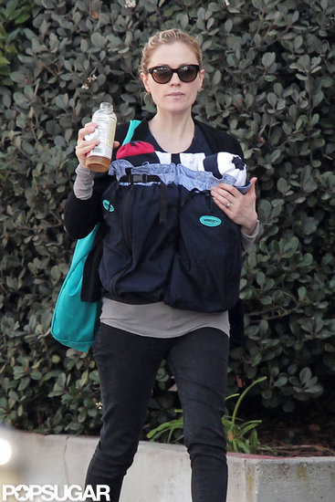 Anna Paquin grabbed a sip of her drink as she walked in LA.