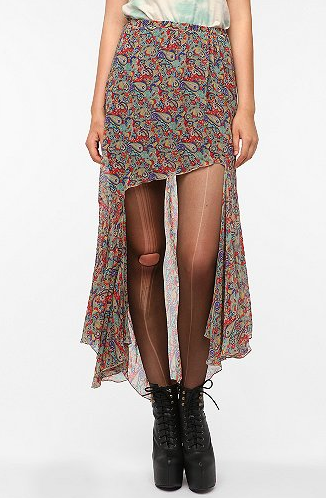 The floral print on this UNIF high low skirt ($60, originally $99) makes it sweet, while the asymmetrical hemline gives it a cool twist.