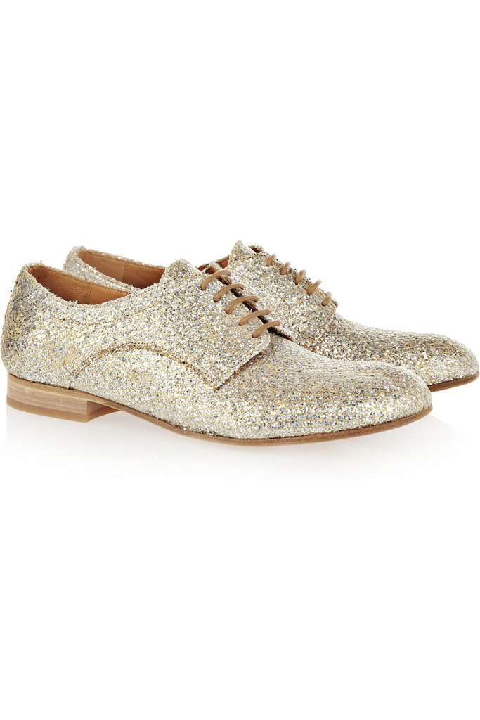 These Maison Martin Margiela glitter-finished brogues ($940) will easily become your go-to dancing shoes. The best part is that their raffia detailing makes them wearable into the summer.