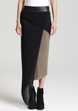 It doesn't get better than this Helmut Lang jersey contrast skirt ($210). Imagine it with a chunky turtleneck sweater and black booties — killer.
