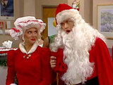 Zack Morris and Kelly Kapowski as Mr. and Mrs. Claus