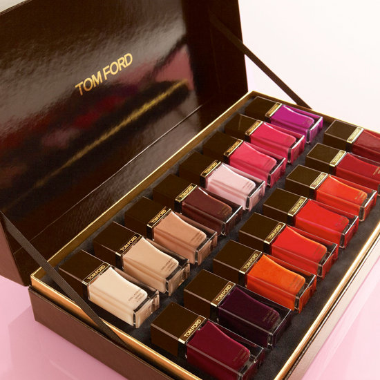 Sixteen shades of sex appeal are nestled into this chic box of Tom Ford nail lacquer ($480). From neutrals to brights, there's something here for every woman and every occasion.