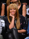 Beyonce Knowles smiled in NYC.