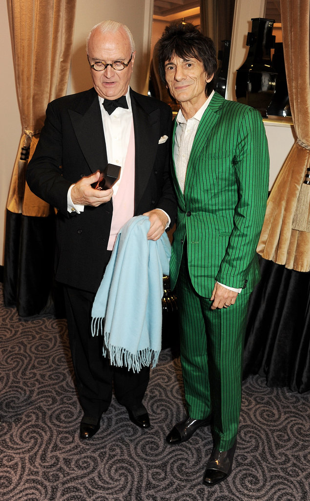 Ronnie Wood linked up with Manolo Blahnik.