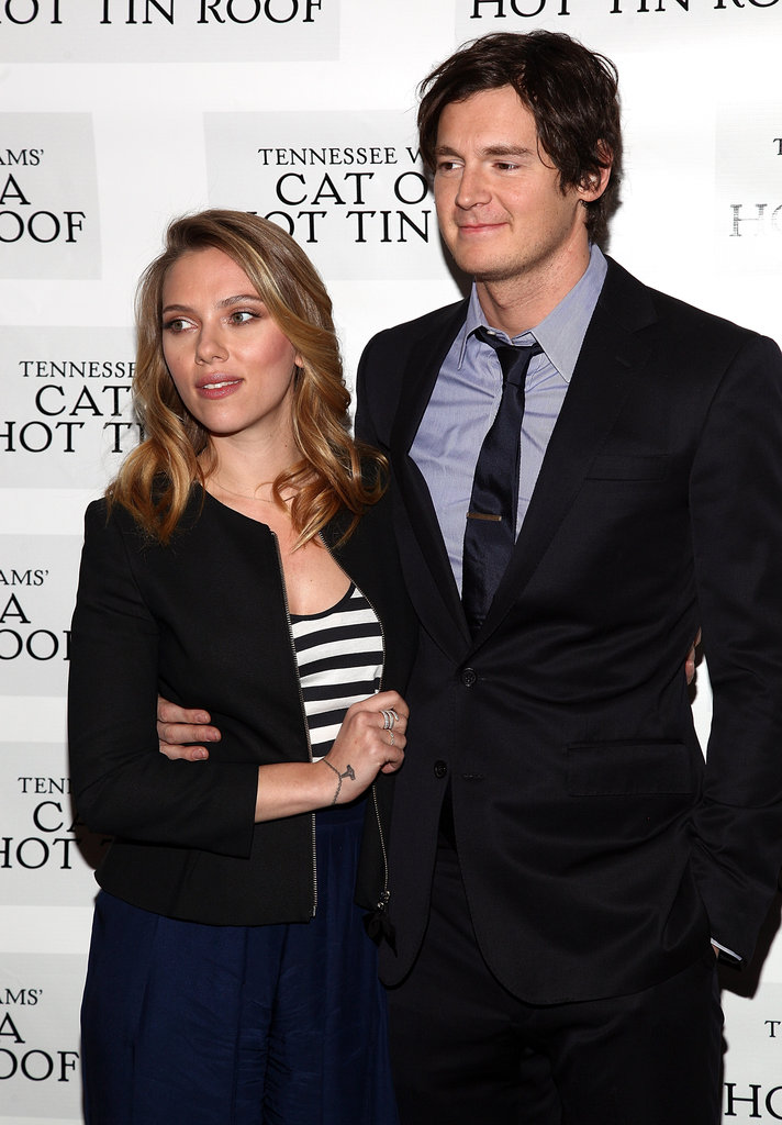 Scarlett Johansson teamed up with costar Benjamin Walker.
