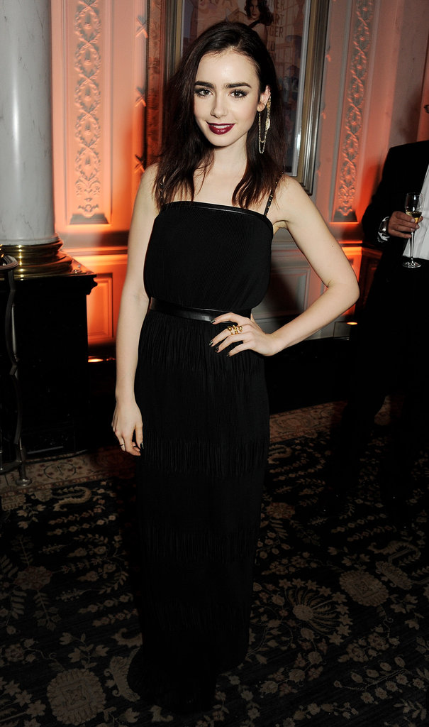 Lily Collins attended the British Fashion Awards.