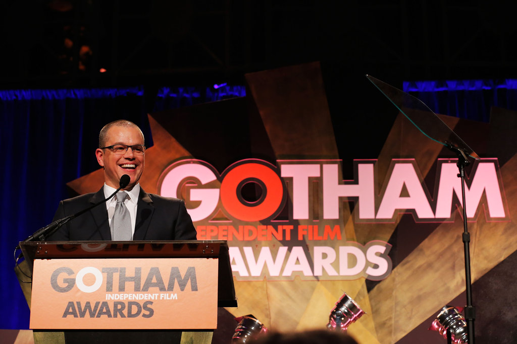 Matt Damon took the podium at the Gotham Independent Film Awards.