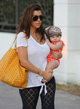 Kourtney Kardashian carried Penelope in Miami.