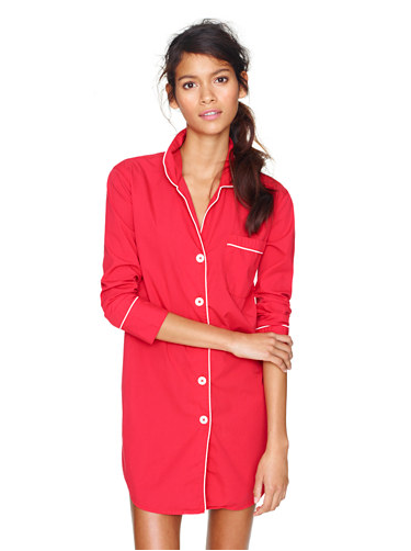 You can monogram J.Crew's nightshirt in end-on-end cotton ($68) so your friend will think of you every time she wears it.