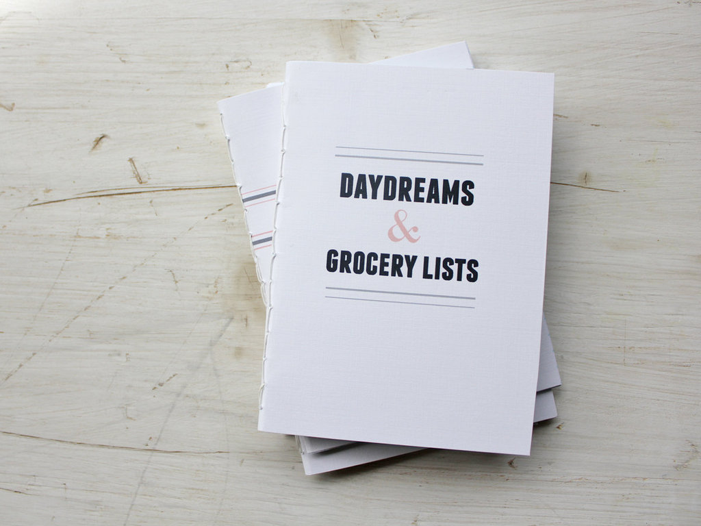Stay organized with this adorable Daydreams & Grocery Lists Hand Bound Notebook ($6) from Fair Morning Blue.