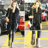 Jessica Alba's Metallic Boots in LA Parking Lot 2012