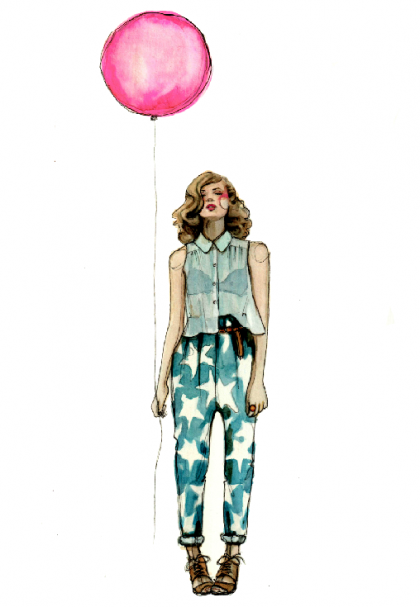 """Nothing says """"you're the jam"""" like this PaperFashion personalized illustration (from $250)."""