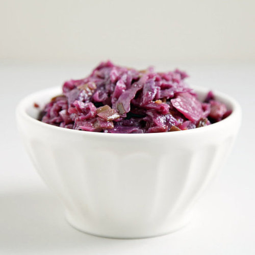 Red Cabbage Braised With Maple and Ginger