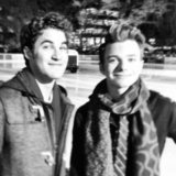 Their characters might be going through a rough patch, but Darren Criss and Chris Colfer are still buddies. Source: Instagram user adamshankman
