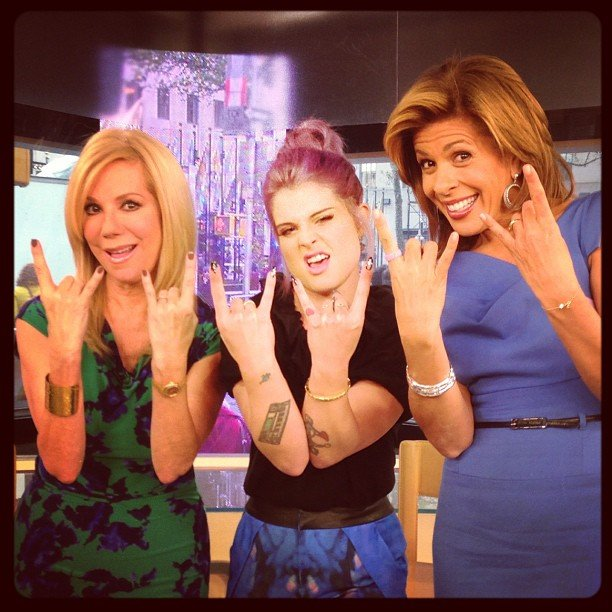 Kelly Osbourne rocked out with Kathy Lee and Hoda Kotb. Source: Instagram user kellyosbourne