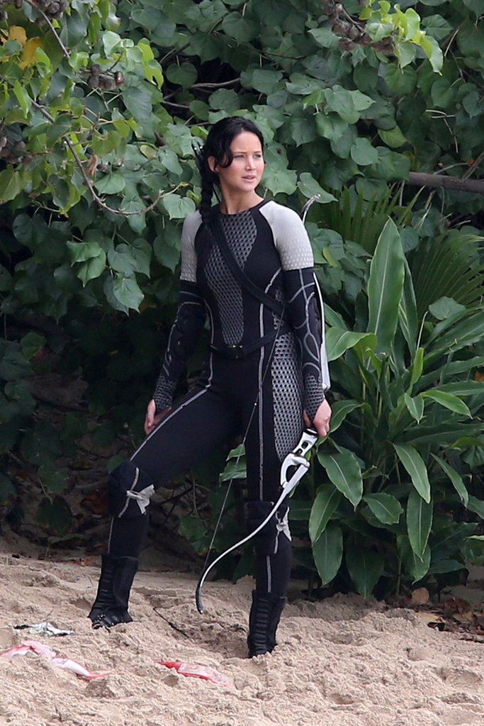 Catching Fire Set Pics: See Jennifer Lawrence and Josh Hutcherson Dive Into Action