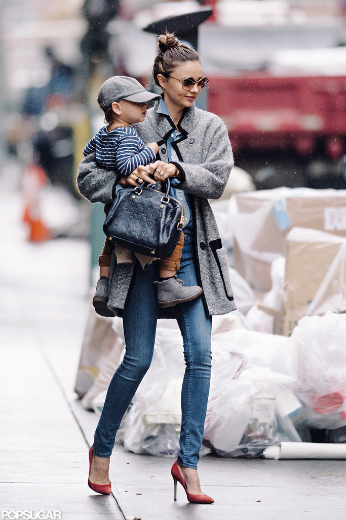 Miranda Kerr and Flynn stepped out in NYC.