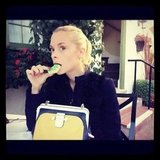 Jaime King enjoyed a holiday cookie. Source: Instagram user jaime_king