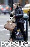 Scarlett Johansson carried her purse in NYC.