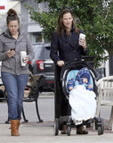 Jennifer Garner took Samuel Affleck for a stroll in New Orleans.