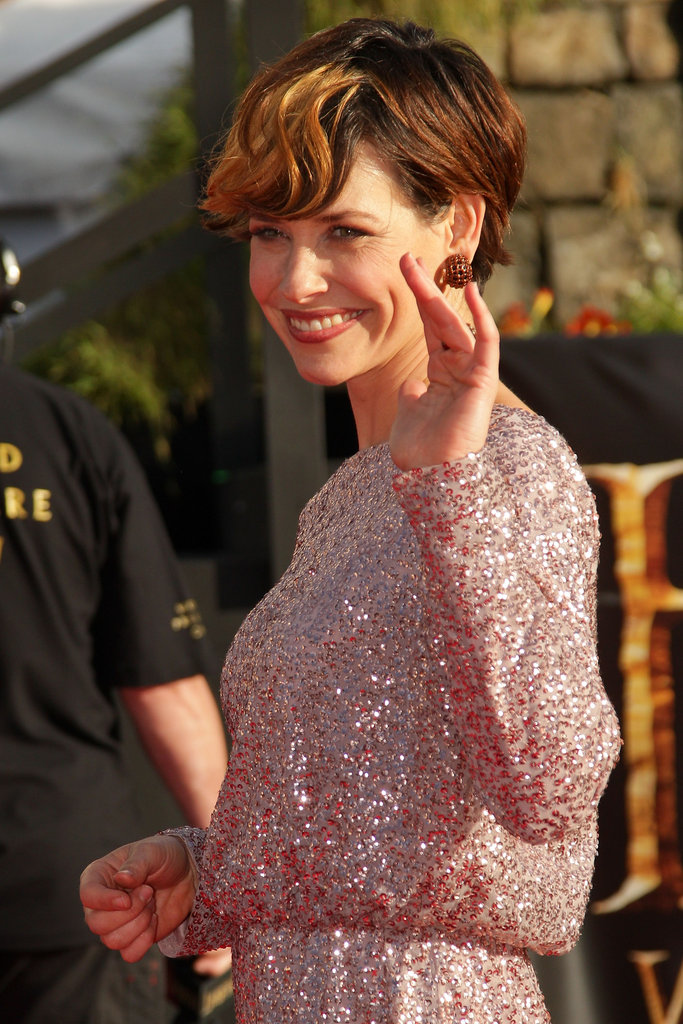 Evangeline Lilly debuted a new look at The Hobbit: An Unexpected Journey premiere in New Zealand.