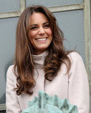 Kate Middleton giggled in Cambridge.