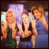 Kelly Osbourne rocked out on set with Kathie Lee Gifford and Hoda Kotb. Source: Instagram user kellyosbourne
