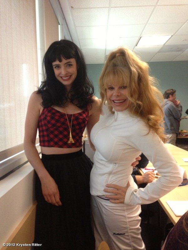Krysten Ritter posed with Charo. Source: Krysten Ritter on WhoSay