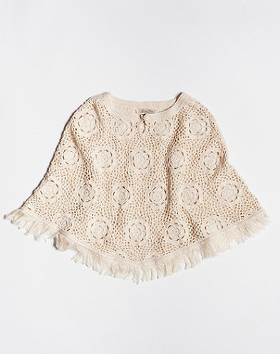 Lucky Brand Crochet Poncho