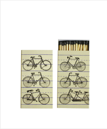 When bikes and matches ($4) unite, you know it's an, err, match made in hipster heaven.