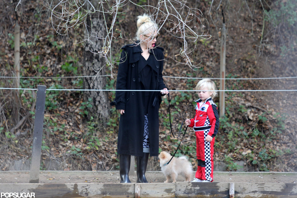Gwen Stefani had the company of son Zuma for a hike in LA.