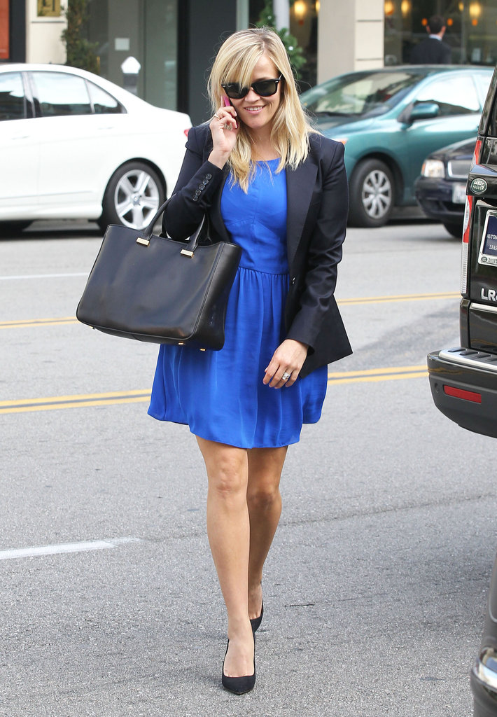 Reese Witherspoon Brings Her Bright Smile to a Busy LA Day
