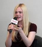Elle Fanning spoke at the  Variety Studio in LA.