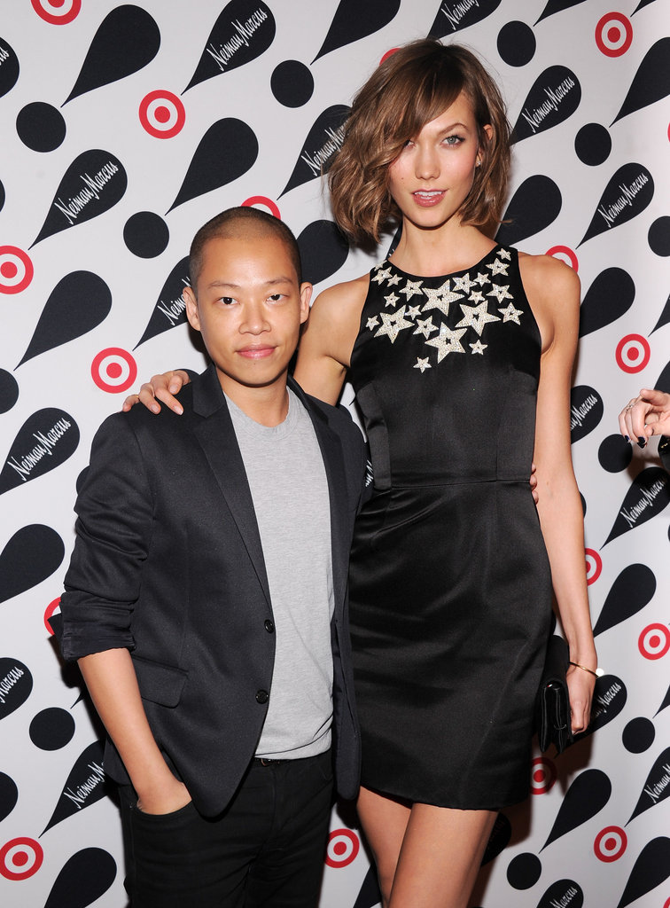 Karlie Kloss had her arm around Jason Wu.