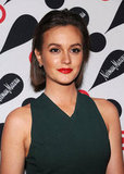Leighton Meester showed off her new short hair.