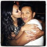 Zoe Saldana planted a kiss on her longtime friend Prabal Gurung. Source: Instagram user prabalgurung