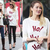 Lauren Conrad Wears Ho Ho Ho Sweater 2012