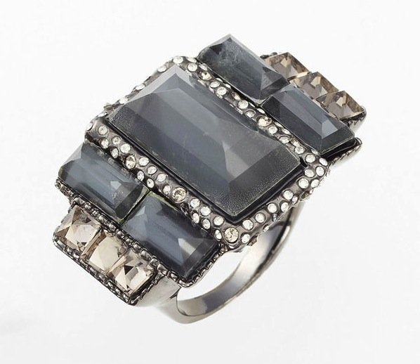 Alexis Bittar's Miss Havisham ring ($275) is a great fusion of sparkly and gritty.