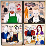 Breaking Bad Character Coasters ($45)