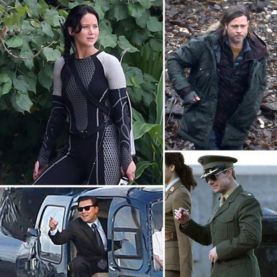 Brad Pitt, Leonardo DiCaprio, Jennifer Lawrence, and More Stars on Set