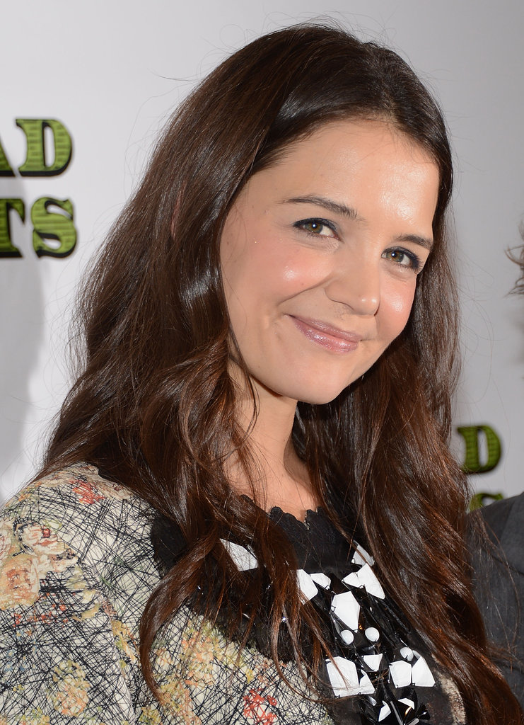 Katie Holmes smiled in NYC.
