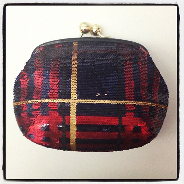 We spotted a holiday-party-perfect Coach clutch.