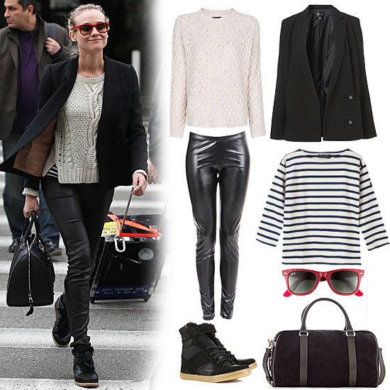 Diane Kruger Wearing Isabel Marant Sneakers