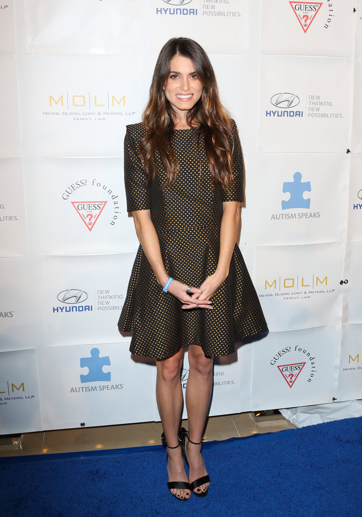 Nikki Reed was party-perfect in a fit-and-flare Ted Baker dress.